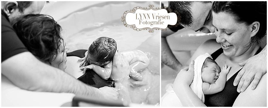 Een turbo badbevalling - Geboortefotografie Wijchen/Nijmegen