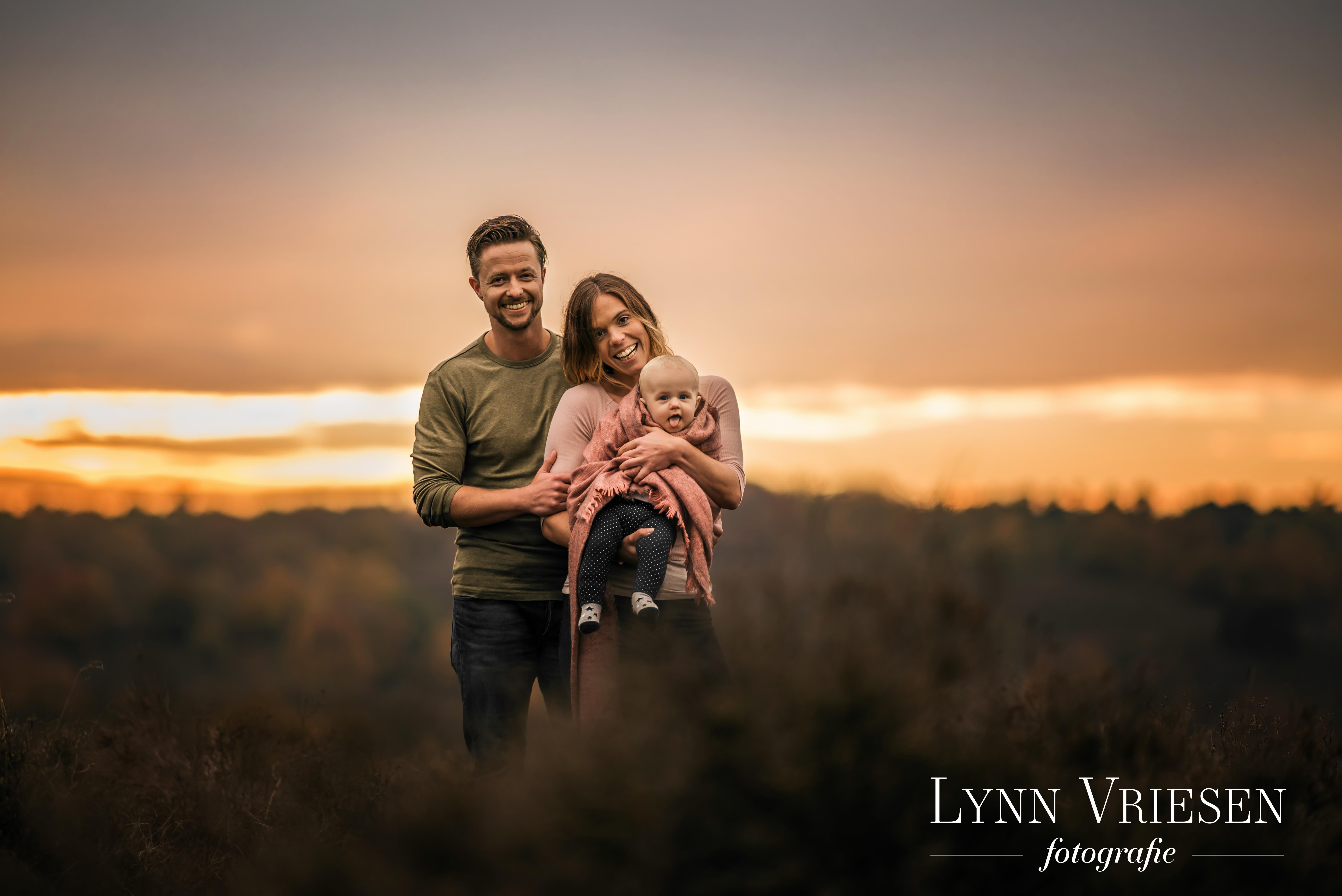 Fotoshoot gezin op de hei
