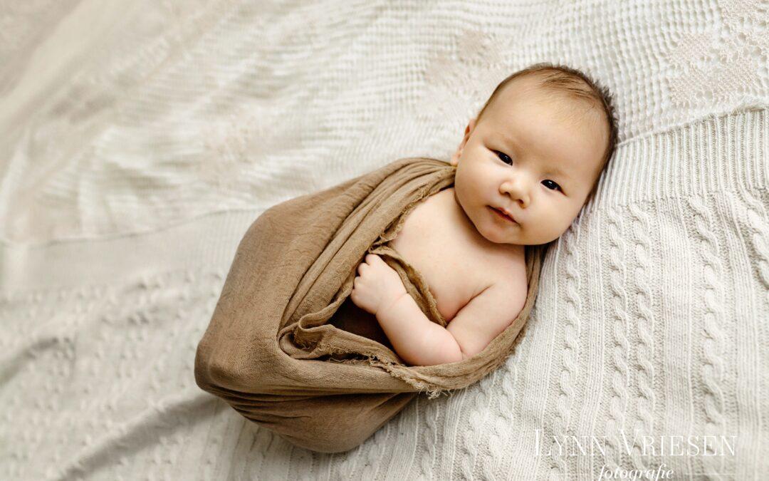 Vince 6 weken – newborn fotoshoot Epe
